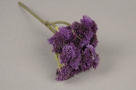 x218fd Sedum artificiel violet H30cm