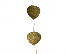 X218KI Garland of gold metal leaves LED L110cm