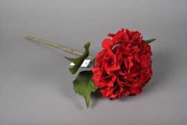 x219fd Hortensia artificiel rouge H46cm