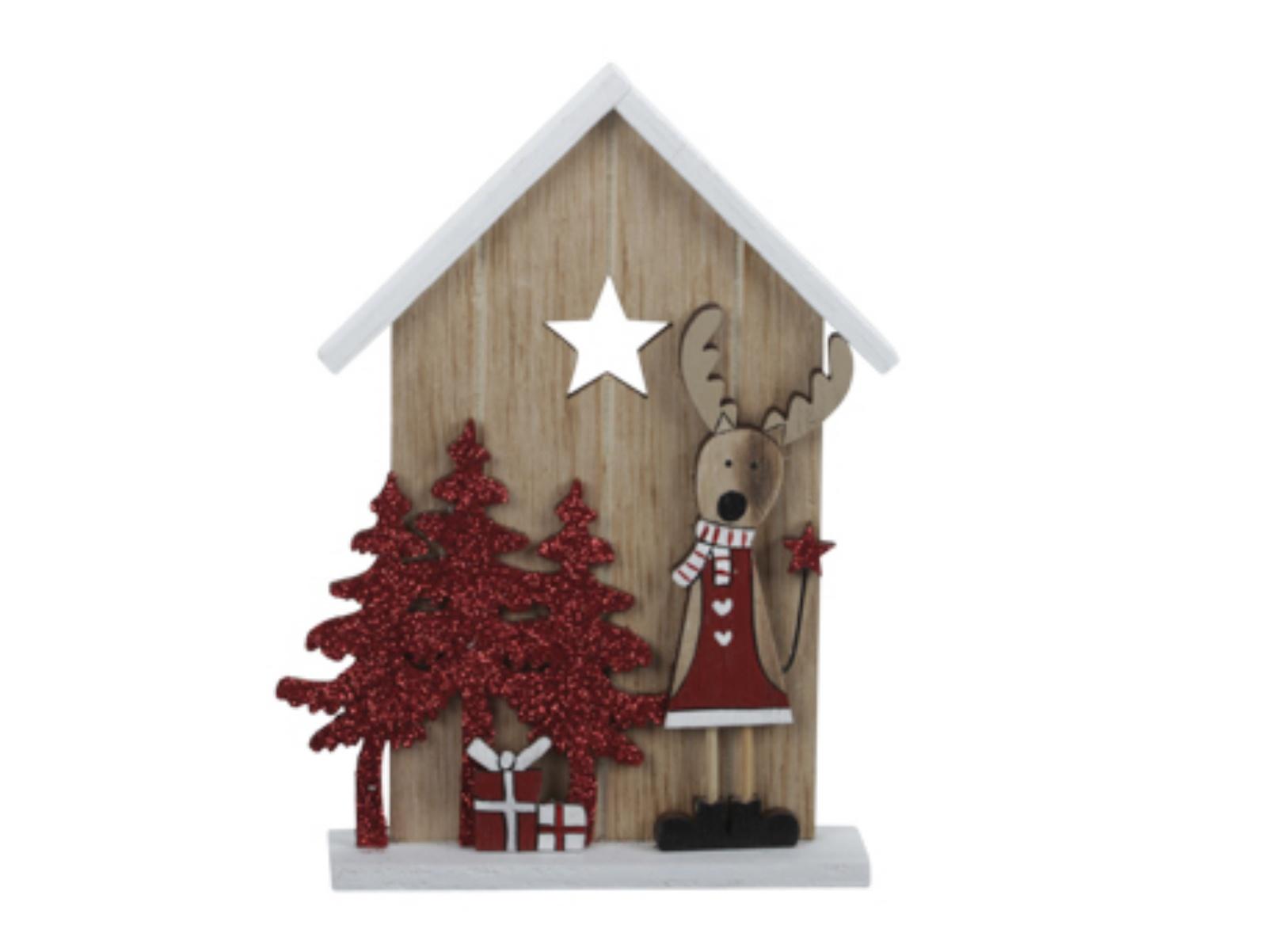 X220X4 Maison en bois à poser H15cm