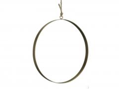 X224X4 Cercle en métal or plat D25cm L2cm