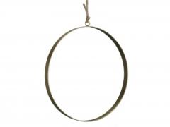 X225X4 Cercle en métal or plat D30cm L2cm
