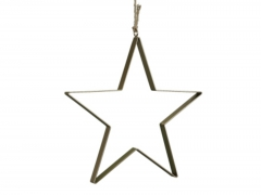 X227X4 Flat gold metal star D28cm
