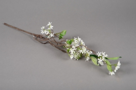 x230ee Branche de jasmin artificiel blanc H55cm