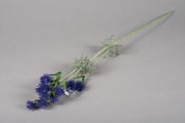 x235ee Chardon artificiel violet H77cm