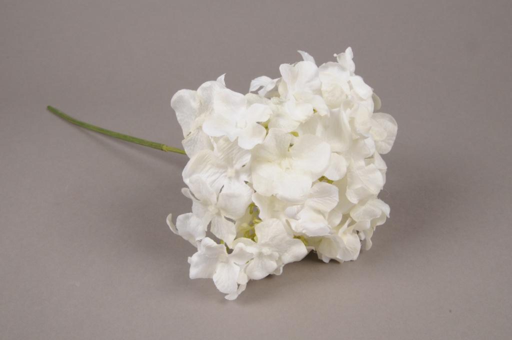 x235fd Hortensia artificiel blanc H40cm