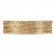 X235UN Ruban tissu maille or brillant 25mm x 10m