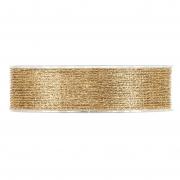 X235UN Shiny gold meshes ribbon 25mm x 10m