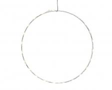 X237KI Cercle blanc en métal 80 LED D75cm