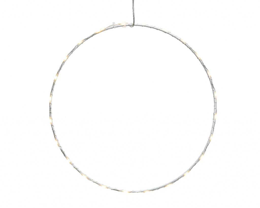 X237KI White metal 80 LED circle D75CM