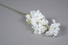 x239fd Hortensia artificiel blanc H63cm