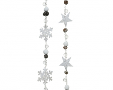X239KI Christmas garland assorted with glitters H100cm