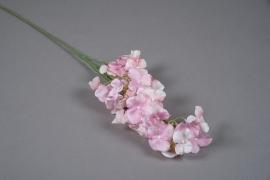 x240fd Light pink artificial hydrangea H63cm