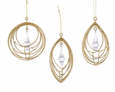 X240KI Iron string decoration assorted in gold D8cm