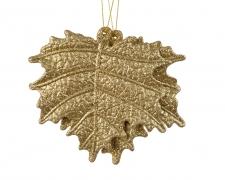 X241KI Set of 2 leaves in gold plastic D11cm
