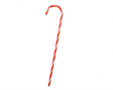 X248KI Red and white candy cane ornament H81cm