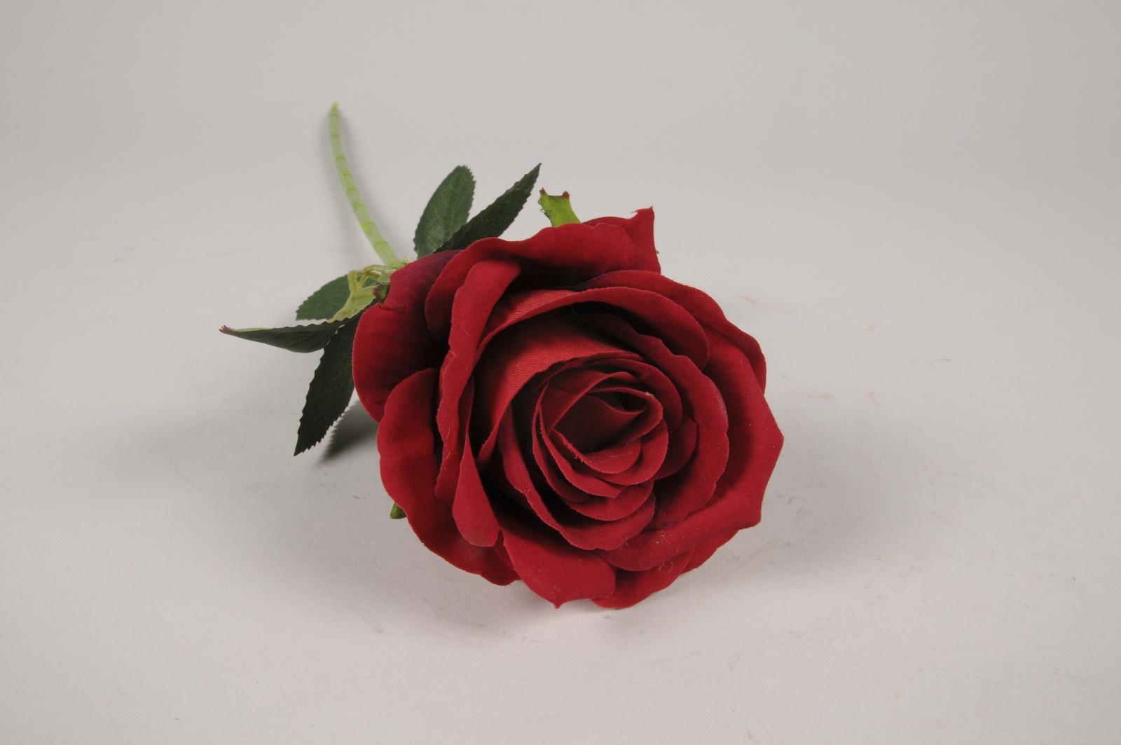 x249am Rose artificielle rouge H50cm