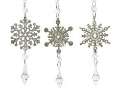 X250KI Snowflake hanging in acrylic assorted H17cm