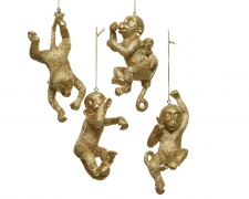 X252KI Gold monkey in polyester assorted 13cm