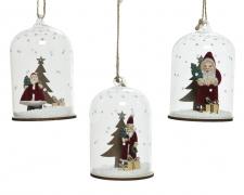 X255KI Christmas decoration glass bell assorted D6.5cm