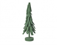 X259KI Green wooden tree D21cm H60cm