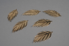 X265UN Set of 6 leaves in gold metal H7cm