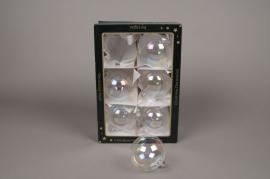 X281T1 Box of 6 clear balls D6cm
