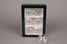 X282T1 Box of 6 clear balls D8cm