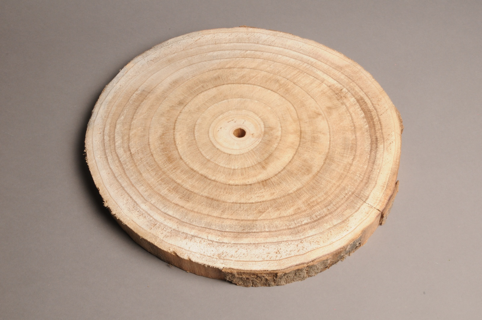 x282wg Tranche de bois naturel D37cm