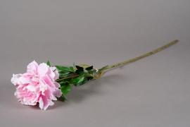 x283jp Artificial pink peony H80cm