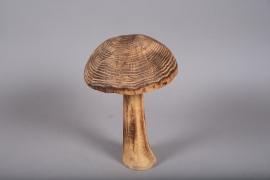 x285fd Champignon en bois H39cm