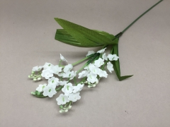 x291bc Pick 5 artificial white lily of valley