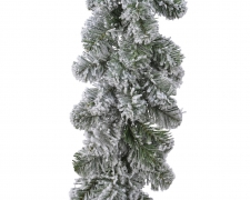 X297KI Artificial Christmas snow-covered tree garland D30cm H270cm