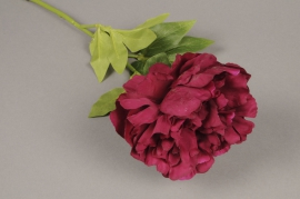 x304fp Pivoine artificielle rose H50cm