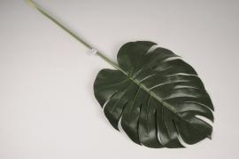x312fd Feuille de monstera artificielle vert H94.5cm