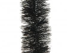 X314KI Guirlande de Noël noire D10cm L270cm