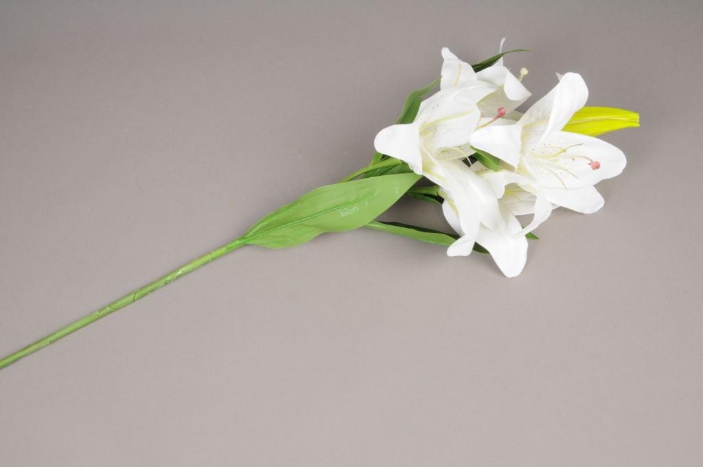 x319mi Lys artificiel blanc H87cm