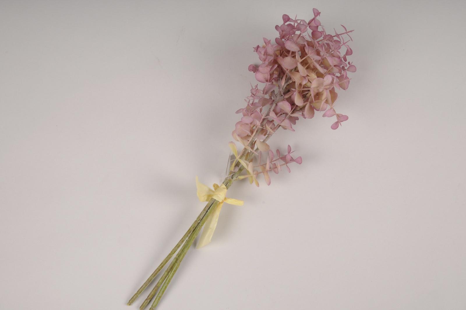 x325fd Bouquet d'eucalyptus artificiel rose H40cm