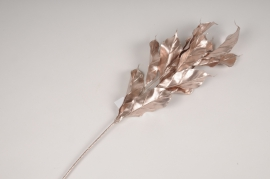x329fd Pink artificial laurel branch H76cm