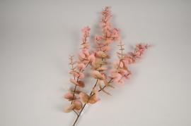 x331fd Branche artificielle d'eucalyptus rose H105cm