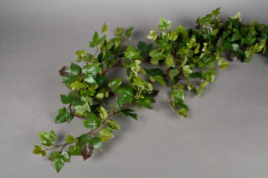 x334wh Guirlande de vigne vierge verte H180cm