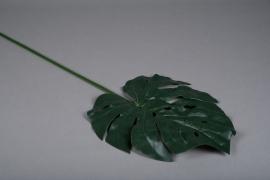 x337wh Feuille de monstera artificielle vert H87cm