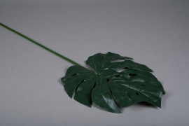 x337wh Green artificial monstera leaf H87cm
