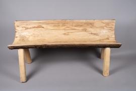 x338wg Wooden bench 46cm x 118cm H55cm