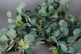 x339wh Guirlande d'eucalyptus artificielle L180cm