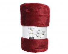 X340KI Red plaid in synthetic fur 150 x 130cm