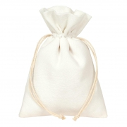 X340UN Paquet de 10 sacs en velours blanc H24cm