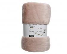 X341KI Pink plaid in synthetic fur 150 x 130cm