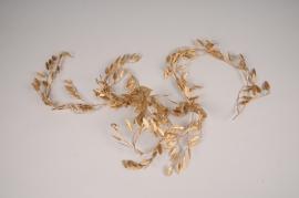 x342fd Golden artificial leaves garland L187cm