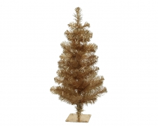 X342KI Artificial Christmas tree gold H60cm